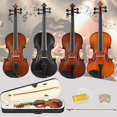 Full Size 4/4 Acoustic Violin with Case&Bow&Rosin&Chin Rest for Beginner Set