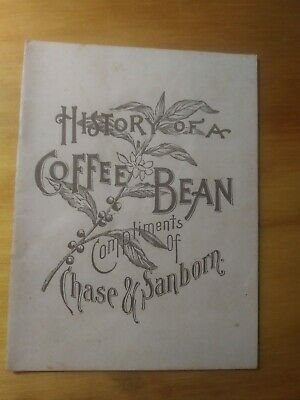 Antique RARE Chase Sanborn History Of A Coffee Bean Book illustrated Brownies Ad