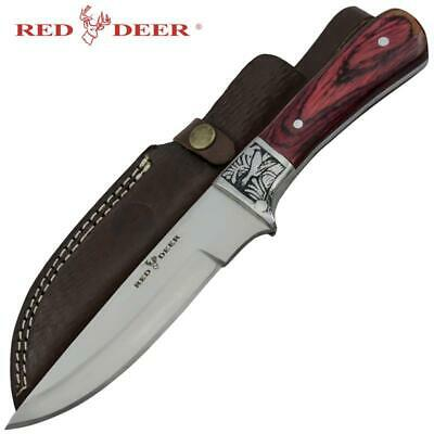 Red Deer® Hunting Buddy Full Tang Game Dagger With Quality Real Leather Sheath