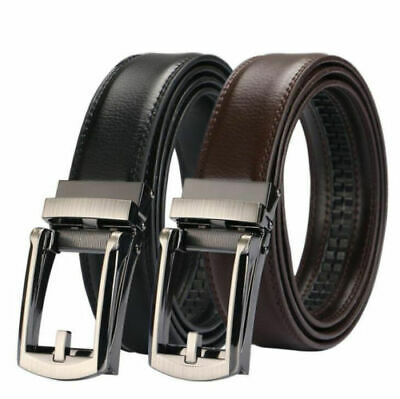 2019 New Comfort Buckle Click Belt Leather Brown And Black For Men As Seen TV