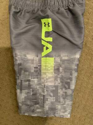 d201aa42fc NWT Under Armour Boys Magnesium Volley Board Shorts Swimsuit UA Large Med  Gray