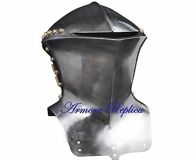Medieval Helmet Knights Crusader Armour Closed Helmet with free stand