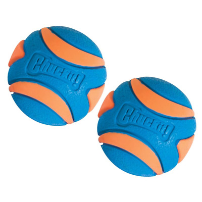 Ultra Squeaker Ball Durable Rubber High Bounce Chewable Dog Pet Toy Small 2 Pack