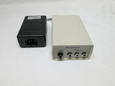 Carefusion MICROPHONE PREAMP 472-804900 MIC AMP W POWER SUPPLY ADAPTER MEAN WEL