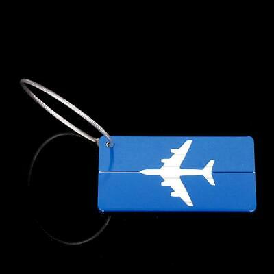 Aluminium Metal Travel Luggage Tag Baggage Suitcase Bag Name Address ID T9G1
