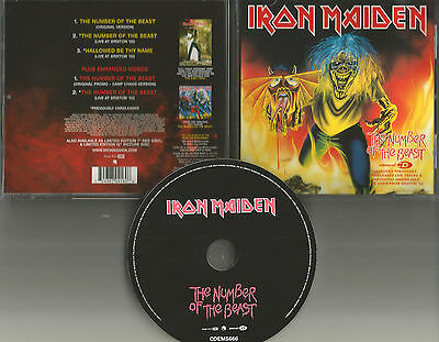 IRON MAIDEN Number of the Beast 5TRX 2 LIVE & 2 VIDEO 2005 CD single USA seller