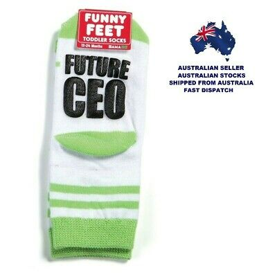 Toddlers Socks - FUTURE CEO - FUNNY FEET By GamaGo - Ages 12 - 24 Months - New