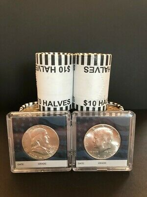 90% Silver Kennedy and Franklin Half Dollars + Unsearched Bank Sealed Full Roll