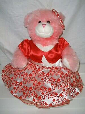 Build-a-Bear Workshop Pink Hugs For You Valentine's Bear Toy Plush