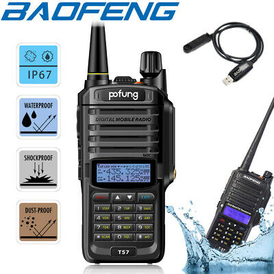 Baofeng IP67 Waterproof Walkie Talkie UHF VHF Two Way FM Radio + Program Cable