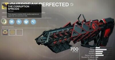 Destiny 2 Outbreak Perfected ex Prime - Exotic Pulse Full Quest Recovery PS4