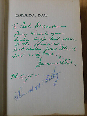 1951 book ~ Corduroy Road signed by author Wallace Davis & Glenn H McCarthy