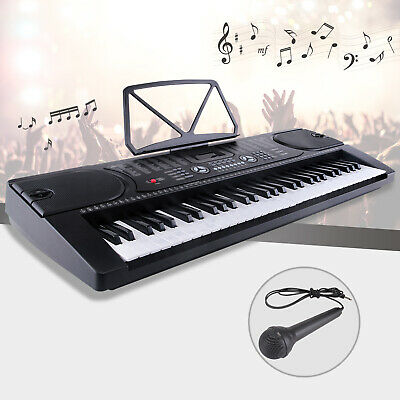 61 Key Electric Digital Piano Organ Musical Electronic Keyboard with Microphone