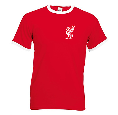 Liverpool Retro LFC Football T Shirt Top Home Ringer Classic Vintage All Sizes