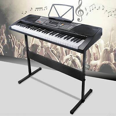 61 Keys Music Electronic Keyboard Electric Digital Piano Organ with Stand Black