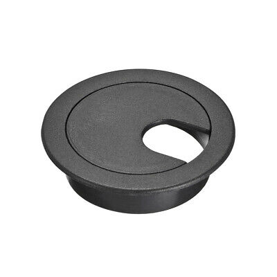 "Cable Hole Cover, 1-3/8"" Plastic Desk Grommet for Wire Organizer, 5 Pcs (Black)"