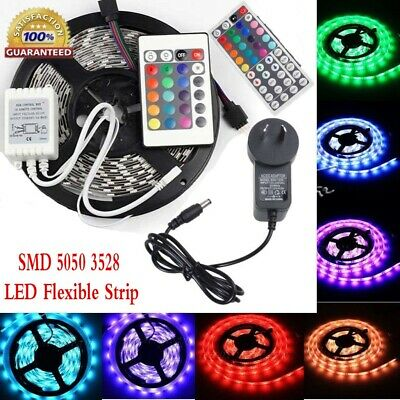 3528 5050 SMD LED Flexible Strip Light 60Leds/m With Remote AU Power Supply 12V