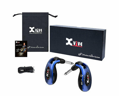 Xvive U2 Rechargeable Digital 2.4Ghz Wireless Guitar System. Metallic Blue.NEW!
