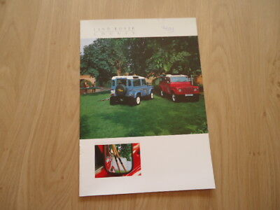 Land Rover County Brochure / Prospekt 1988