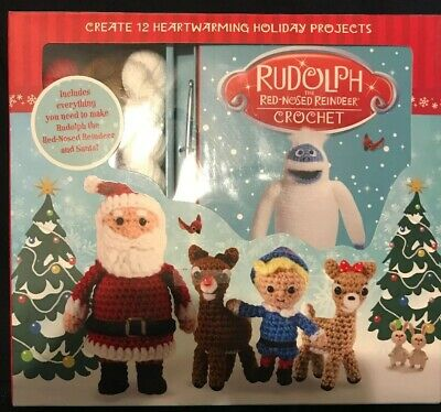 Rudolph the Red Nosed Reindeer Crochet Craft Kit and Book make 12 characters