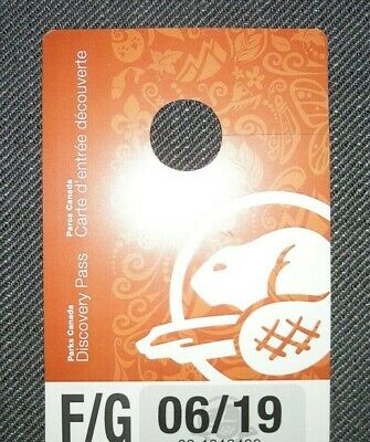 Parks Canada Discovery Pass - Family/Group - Valid 30/06/19 - Free Post!