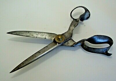 Large pair of late Victorian tailors scissors by R HEINISH NEWARK NJ U.S.A