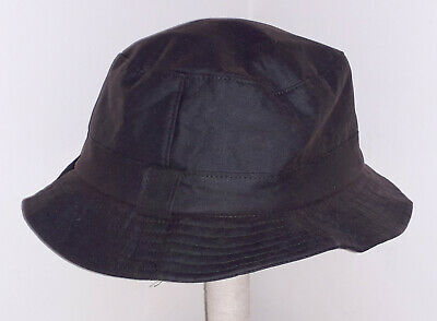 """HOGGS OF FIFE WAXED BUSH HAT IN BROWN SIZE: S [22"""" circ]"""
