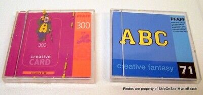 PFAFF Creative Fantasy Embroidery Cards #71 Monograms & #300 Creative  *Free S&H