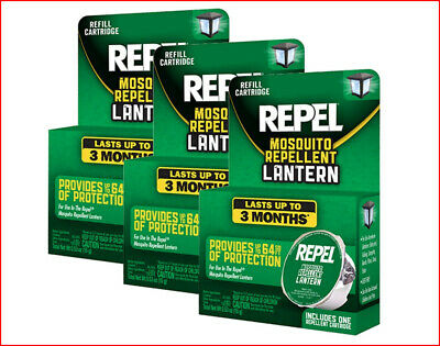 LOT 3 - REPEL Mosquito Repellent Refill Cartridges for Lantern HG-94128 🌟NEW🌟