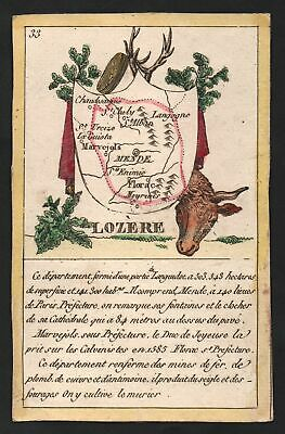 1800 Mende Lozere Frankreich France playing card Spielkarte carte a jouer