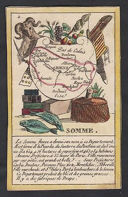 1800 Amiens Frankreich France playing card Spielkarte carte a jouer engraving