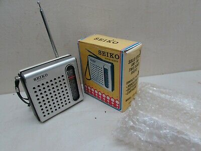 Vintage Seiko FS56 Solid State 9 Transistor AM FM Portable Radio Original Box