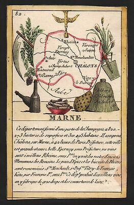 ca. 1800 Chalons Marne Frankreich France playing card Spielkarte carte a jouer