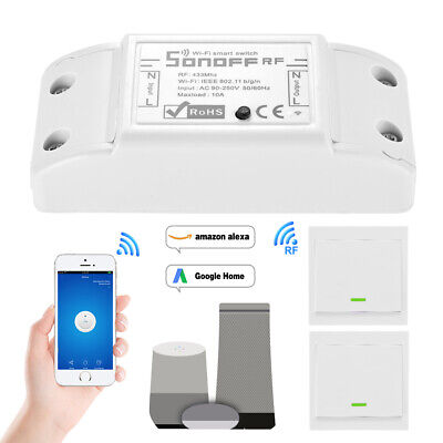 Sonoff RF WiFi Smart Switch Receiver+1pc/2pcs 433MHZ Remote Control Transmitter