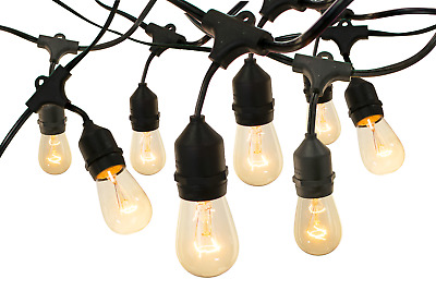 Vintage Edison Light Bulbs Hanging String Cord Set Incandescent Patio Wedding