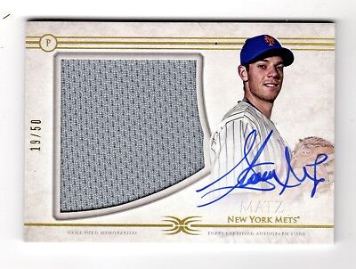Steven Matz Mlb 2017 Topps Definitive Collection Autograph Relics #/50 (Mets)