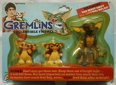 Gremlins : Gizmo & Stripe collectible figure 3 set   LJN 1984