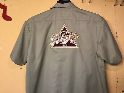 78e07dd8 Blatz Beer Delivery Guy Work Shirt Dickies Xl 🍺 🍺 🍺 🍺 🍺