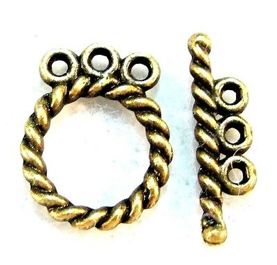 6pr Fancy Square Picture Frame Toggle Clasp Ends 5535