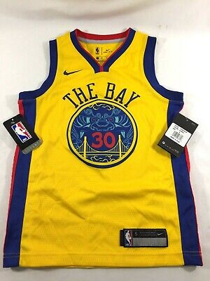e29555038f20 NWT Nike NBA Warriors Men s Chinese Heritage The Bay Stephen Curry Jersey  Size S
