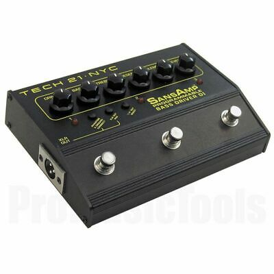 Tech 21 USA SansAmp Bass Driver D.I. Programmable * NEW * tech21 di box vt