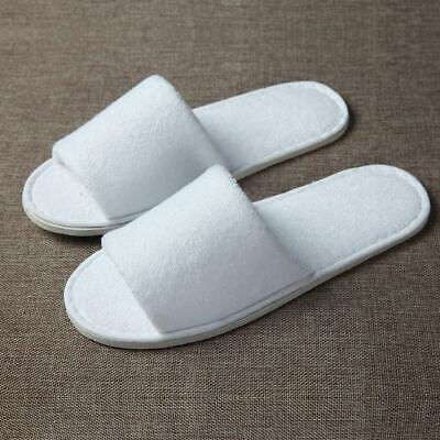 White Towelling Open/Closed Toe Hotel Slippers Spa Shoes Disposable LOT