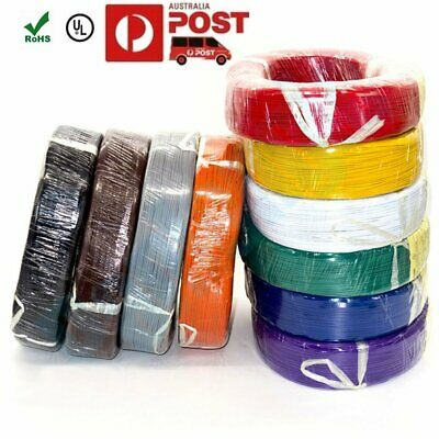 Flexible Stranded of UL 1007 9 Colors 16/18/20/22/24 AWG Flexible PVC Wire Cable
