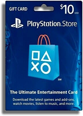 PlayStation Network Gift Card 10 USD PSN UNITED STATES [ BEST OFFER]