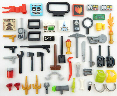 Lego Lot Of 50 Wrenches Minifigure Accessories Tools City Town Minifig NEW