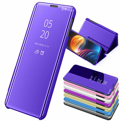 Leather Flip Smart View Mirror Case Stand Cover For Samsung Galaxy S10 Plus S10e
