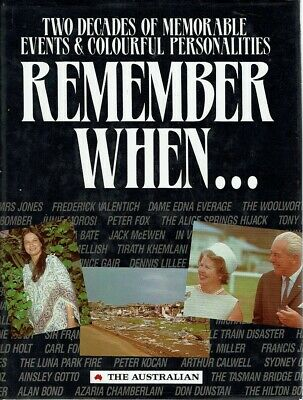 Remember When by Earnshaw Arnold - Book - Hard Cover - Australian History