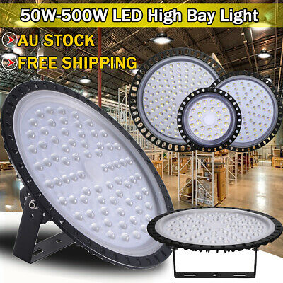 50W- 500W Ultra-thin LED High Bay Light Fixture Commercial Warehouse Industrial