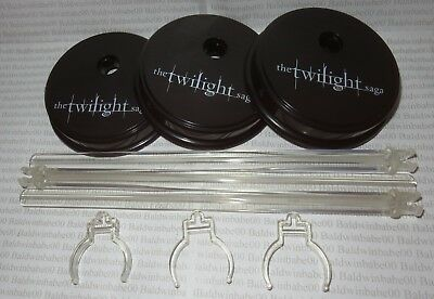 Stands Lot (6B) ~ Barbie Doll Black Twilight Collector Round Base Waist Grip