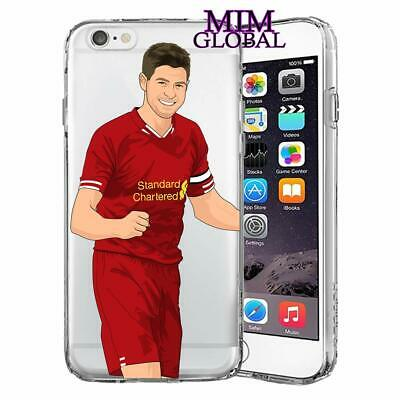 MIM Global Football Soccer Futball Hulle Case Cover Kompa(iPhone X/Xs, Gerrard)